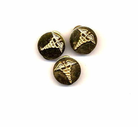 Vintage Army Medical Corps World War II Lapel Pins