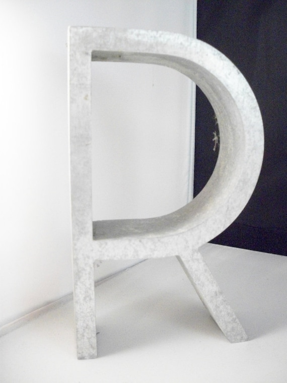 Architectural Salvage Metal Letter Alphabet Letter R Art