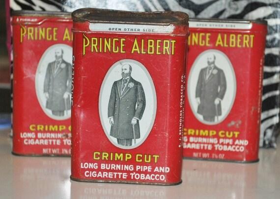 Vintage Prince Albert Tobacco Cans  Vintage Metal Prince Albert Tobacco Cans