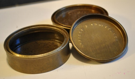 Vintage WWII Memorabilia  French Military Shoe Polish Can WWII