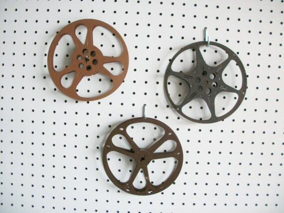 On Reserve :  Please Honor this Reserve for  A Customer  Vintage   Film Reels   Six Vintage Movie Reels