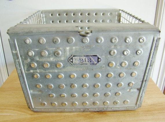 vintage locker basket old school locker basket by salvagenation. Black Bedroom Furniture Sets. Home Design Ideas