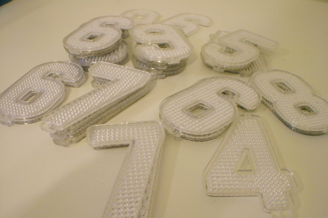 Vintage reflective plastic house numbers for Plastic house letters