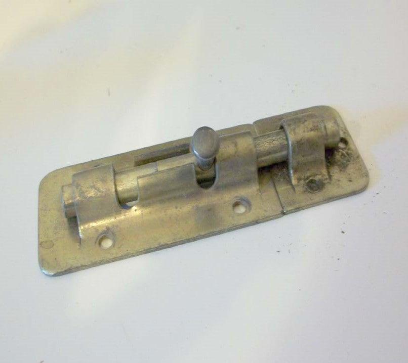 Slide Lock Door Install: Vintage Hardware Door Slide Locks Gold Tone Slide Bolt Lock