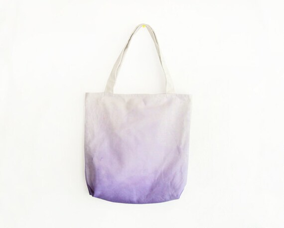 purple dyed texture canvas tote