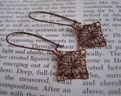 Filigree Drop Earrings- Copper