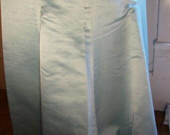 Heiser Vintage Silk Blue Mermaidesque Evening Skirt Sz 7\/8