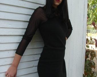 Vintage Evan Picone Elegant Black Sheath Dress