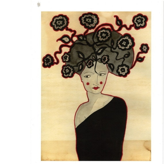 Art Print- Madame Fleur