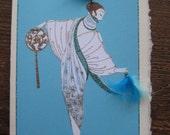 "Erte fashion illustration ""The Salon"" fashion  print note card"