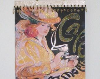 """Vintage French"""" Cafe au lait""""  Art Nouveau Plaque"""