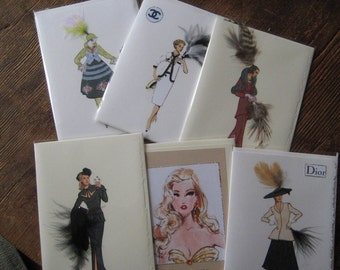 Mix and match any 4 cards boxed Fashion Illustration