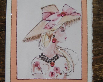 "Barbie Vintage ""Barbie en Paris"" fashion print note card"