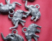 12 Itty Bitty Elephant charms