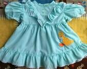 Vintage Big Bird Dress 9-12 Months