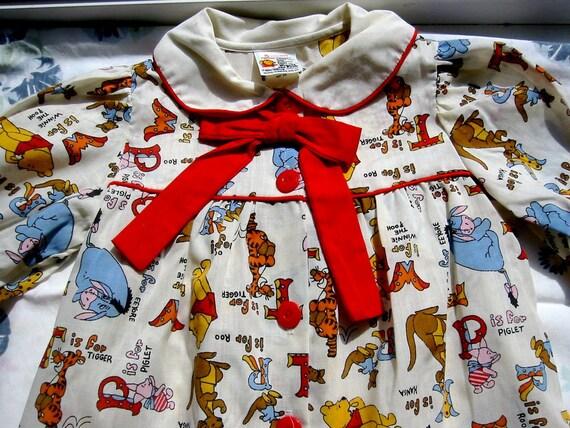 Vintage Winnie the Pooh Dress Size 5