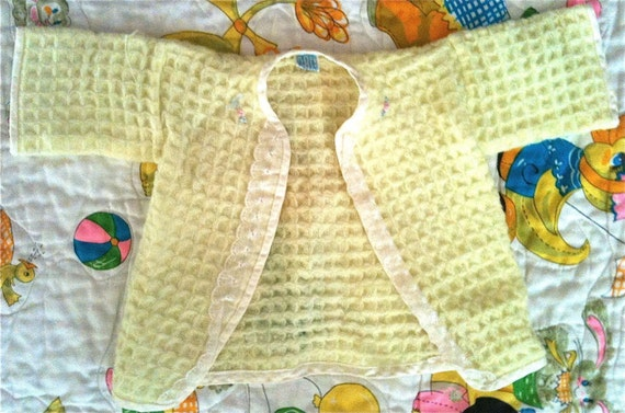 SALE Yellow Baby Dear Sweater 0-3 Months