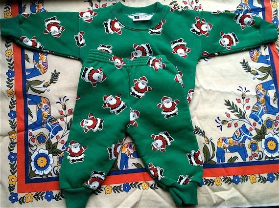 Santa Sweatsuit 6-9 Months