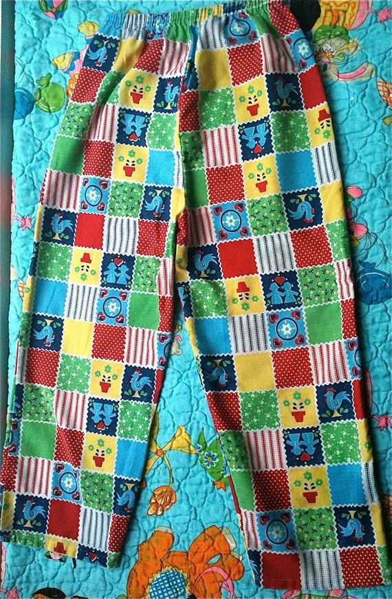 Handmade Patchwork Pants Girls 6/7
