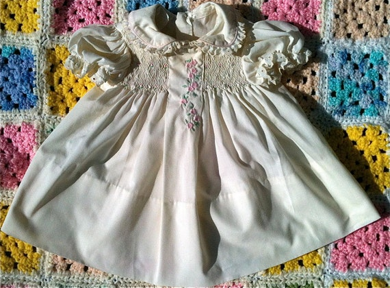 Polly Flinders Smocked Dress 12-18 Months