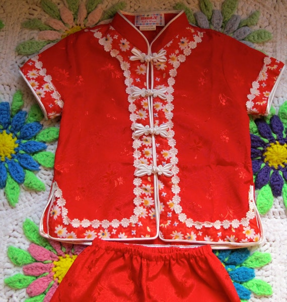 Asian Print Pajamas 18-24 Months
