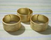 3 Brush Pattern Adjustable Brass Ring Blanks