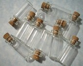 10 Glass Bottles with Corks 2ML Pendant Charms - USA Seller