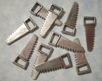 10 Saw Charms 9mm x 24mm