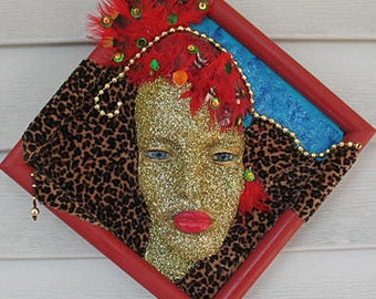 Valentine Special ! - Mannequin Head Glitzy Wall Art Mixed Media by Kate Ladd
