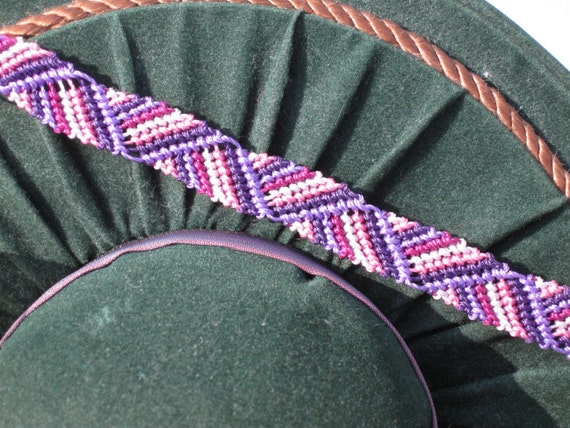 Purple Ribbon Macrame Bracelet ON SALE