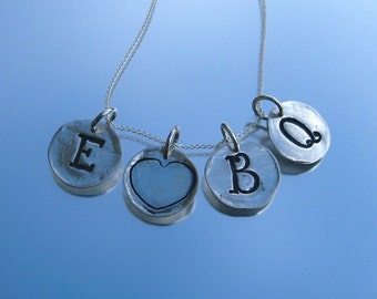 Circle Tag Initial Necklace
