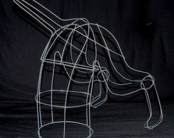 Digging Dog Topiary Wire Art Dog Frame Design - CUSTOM/UNIQUE