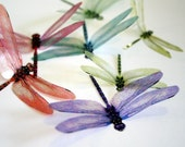 DF002 - 12 x 3D Dragonflies Suitable for Scrapbooking, Weddings and Decorations
