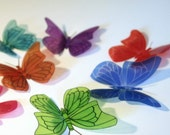 B106 - 12 x 3D Butterflies Suitable for Scrapbooking, Weddings and Decorations