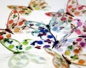 B006 Floral Transparent Butterflies