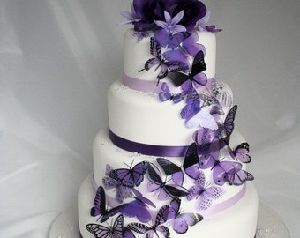 20 pack of Purple Butterflies great for Cake Toppers
