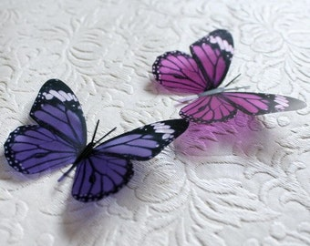 3D Butterflies -12 x B158 for Weddings, Cake Toppers, Crafts, Wall Art, Nurseries and  Scrapbooking