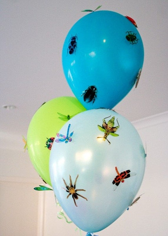 30 pack of Bugs, Beetles, Dragonflies and Spiders for little Boys walls, windows and parties
