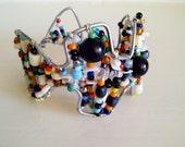 Beaded wire bracelet handmade