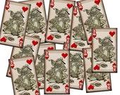 "QuEEN Of HeaRTs ""Alice In Wonderland"" Vintage Art Tags- paper crafts  Printable Collage Sheet JPG Digital File- BuY OnE GeT OnE FREE"