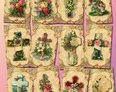 CRoSS Christian ViNtAgE ArT Hang/Gift Tags-Dusty Posh- Printable Collage Sheet JPG Digital File- BuY OnE GeT OnE FREE