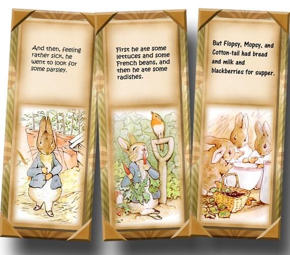 Peter Rabbit ViNtAgE ArT Bookmarks/ Tags- Printable Collage Sheet Download JPG Digital File -New Lower Price