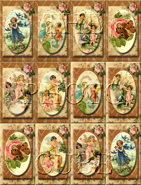 pixie imp charming vintage tags cards labels