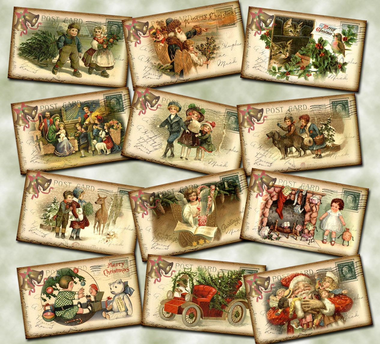 This is an image of Persnickety Vintage Christmas Gift Labels