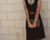 Vintage Brown Tuxedo Dress SIZE 6