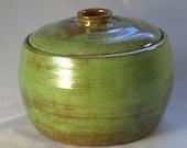 Yarn Jar - antique green