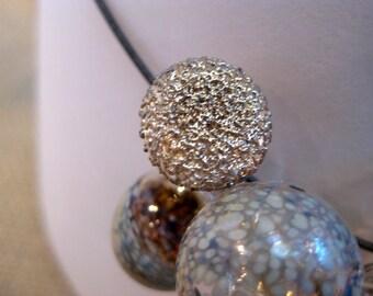 Rich Neutrals Glass Bubble Necklace