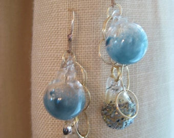 Blue Chain Earrings