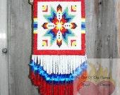 ON SALE Beaded Amulet \/ Medicine Bag  Lakota Star