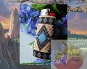 Bead PATTERN Southwestern Lighter Cover Peyote or Brick stitch